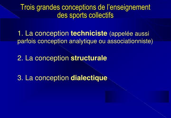 Trois grandes conceptions de l'enseignement