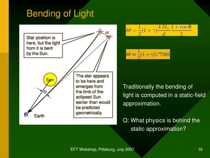 Bending of Light