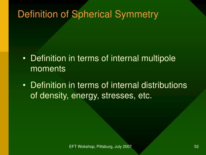 Definition of Spherical Symmetry