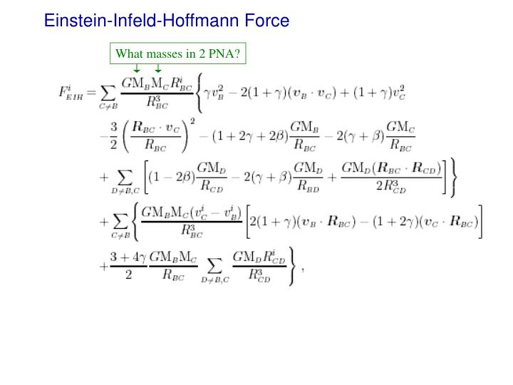 Einstein-Infeld-Hoffmann Force