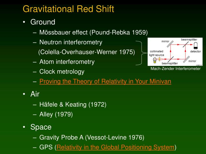 Gravitational Red Shift