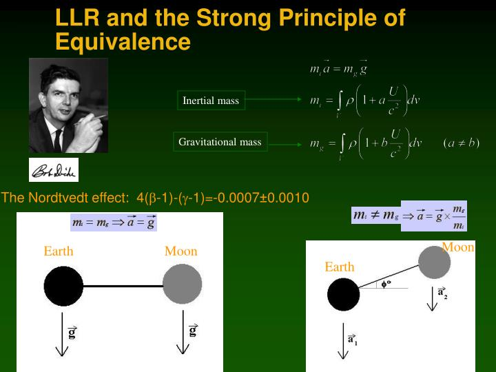 LLR and the Strong Principle of Equivalence