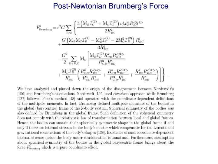 Post-Newtonian Brumberg's Force