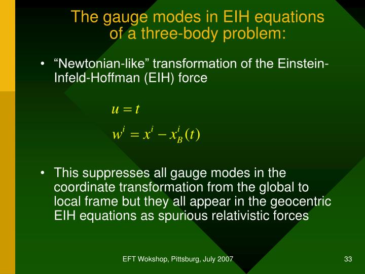 The gauge modes in EIH equations