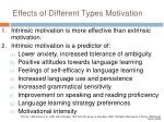 effects of different types motivation