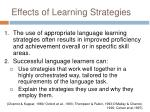 effects of learning strategies