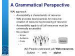 a grammatical perspective