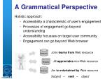 a grammatical perspective1