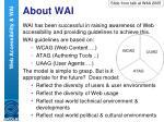 about wai