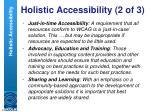 holistic accessibility 2 of 3