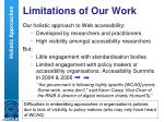 limitations of our work