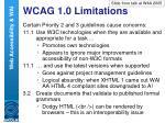 wcag 1 0 limitations