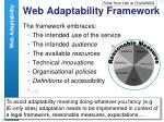 web adaptability framework
