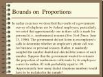 bounds on proportions
