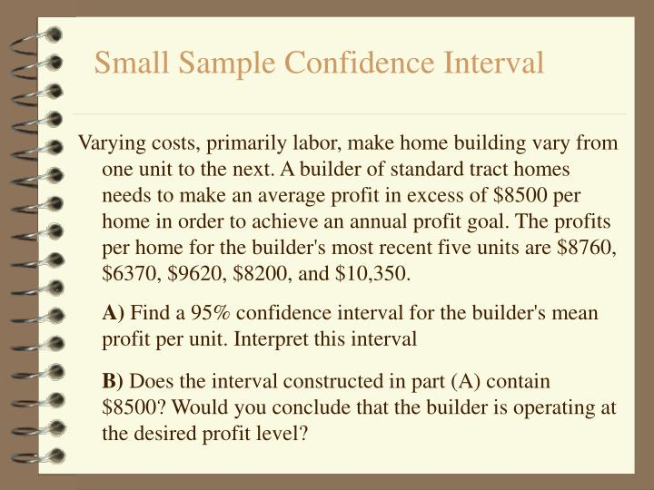 Small Sample Confidence Interval