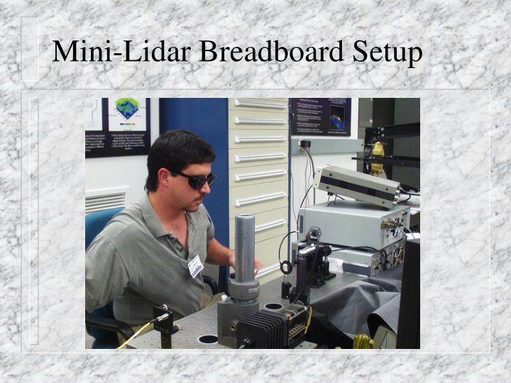 Mini-Lidar Breadboard Setup