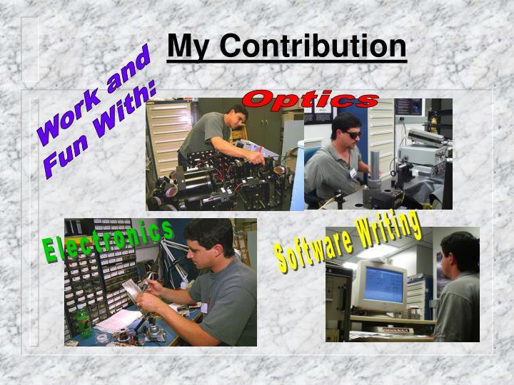 My Contribution