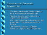 capacities and demands starkweather
