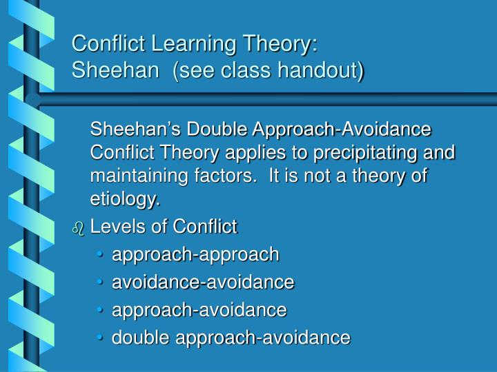 Conflict Learning Theory: