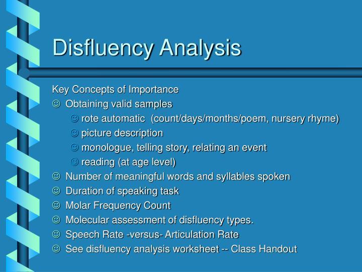 Disfluency Analysis