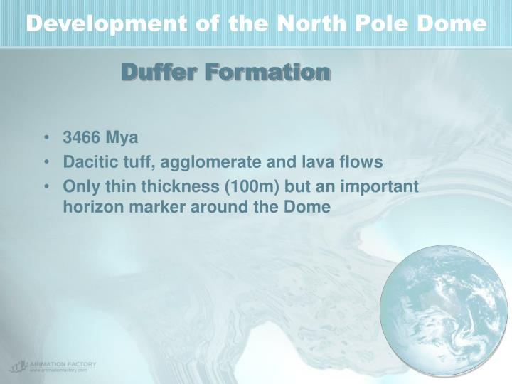 Development of the North Pole Dome