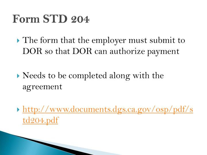 Form STD 204