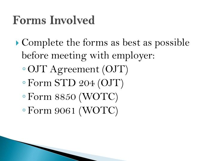 Forms Involved