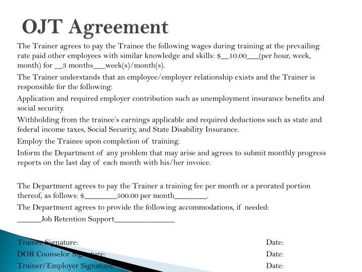 OJT Agreement