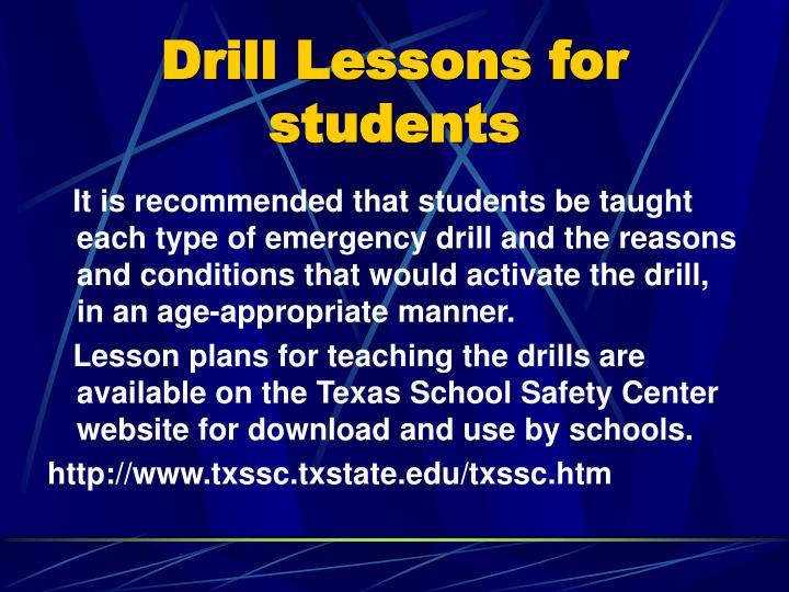 Drill Lessons for students