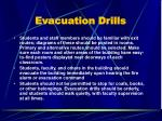evacuation drills
