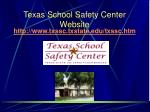 texas school safety center website