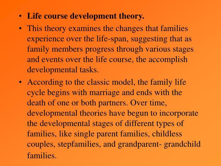 Life course development theory.