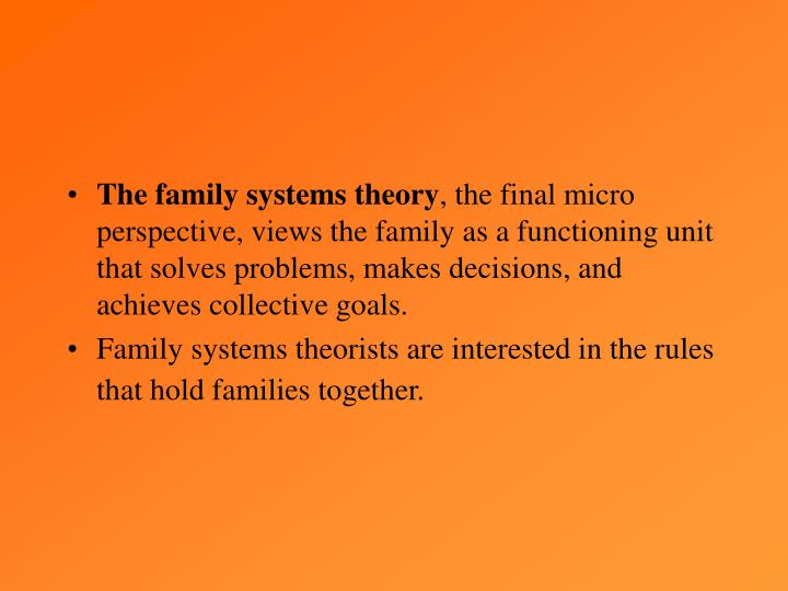 The family systems theory