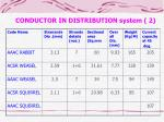 conductor in distribution system 2