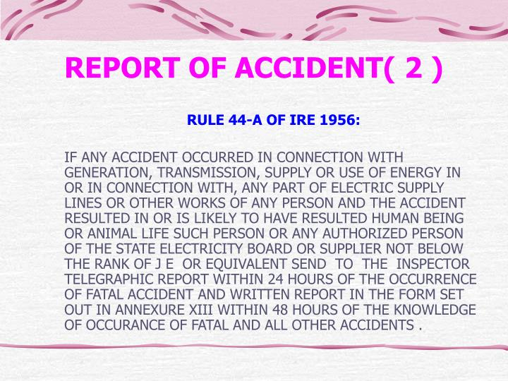REPORT OF ACCIDENT( 2 )