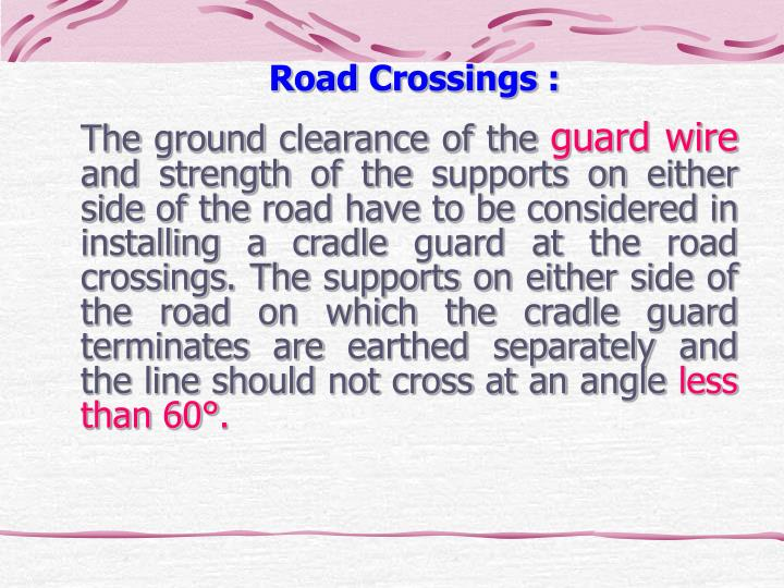 Road Crossings :