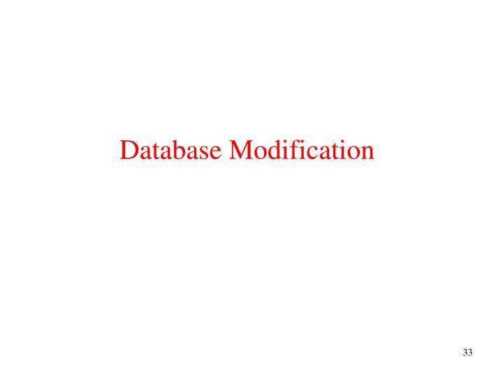 Database Modification