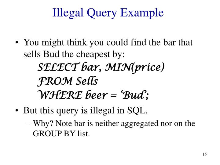 Illegal Query Example