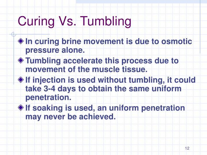 Curing Vs. Tumbling