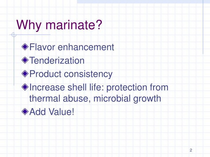 Why marinate?