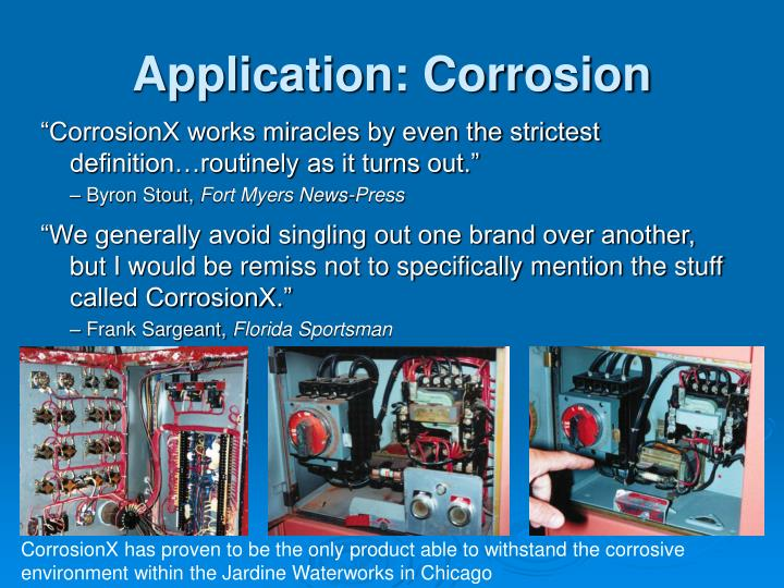 Application: Corrosion