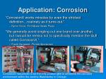 application corrosion