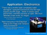 application electronics