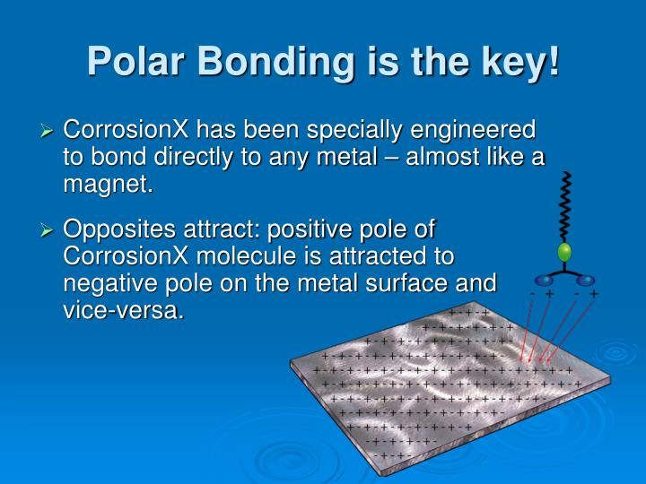 Polar Bonding is the key!