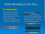 polar bonding is the key1