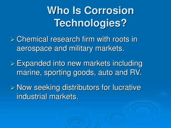 Who is corrosion technologies