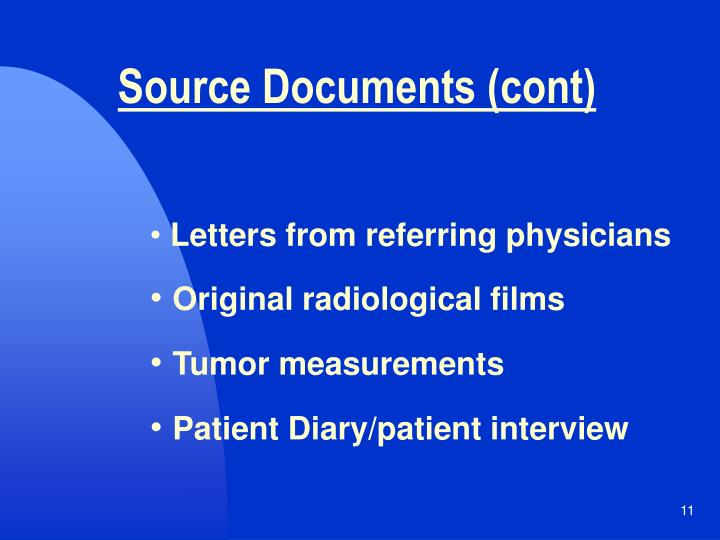 Source Documents (cont)