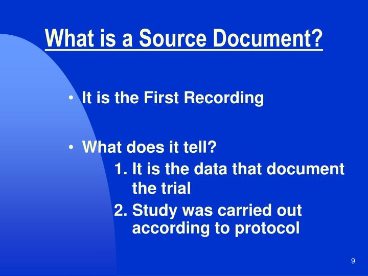 What is a Source Document?