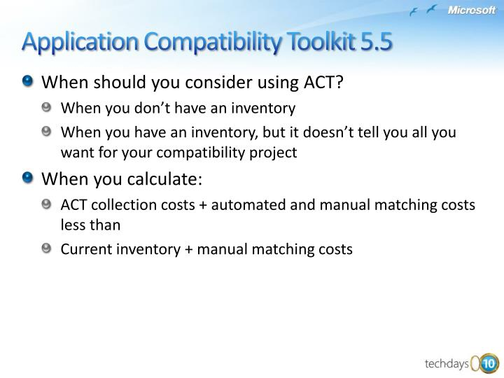 When should you consider using ACT?
