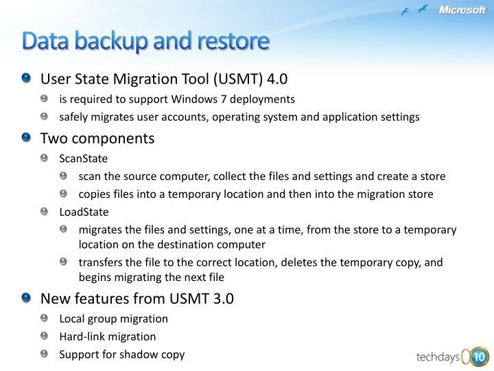 User State Migration Tool (USMT) 4.0